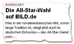 """""""Was in der nordamerikanischen NHL schon lange Tradition ist, steigt jetzt auch im deutschen Eishockey – das All-Star-Game!"""""""