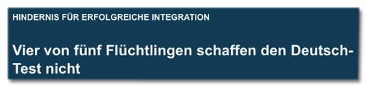 Screenshot prosieben.de - Hindernis für erfolgreiche Integration - Vier von fünf Flüchtlingen schaffen den Deutsch-Test nicht