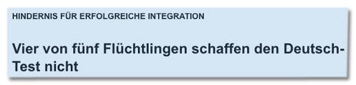 Screenshot sat1.de - Hindernis für erfolgreiche Integration - Vier von fünf Flüchtlingen schaffen den Deutsch-Test nicht