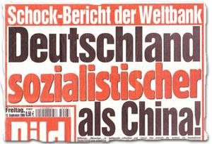 """""""Schock-Bericht der Weltbank: Deutschland sozialistischer als China"""""""