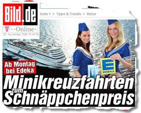 Ab Montag bei Edeka: Mini-Kreuzfahrten zum Schnäppchenpreis