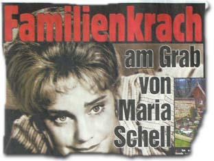 Familienkrach am Grab von Maria Schell