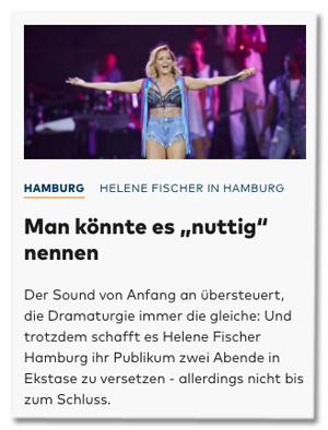 Screenshot Welt.de - Helene Fischer n Hamburg - Man könnte es nuttig nennen