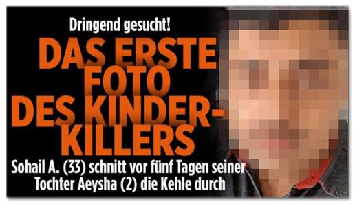 Screenshot Bild.de - Dringend gesucht - Das erste Foto des Kinder-Killers