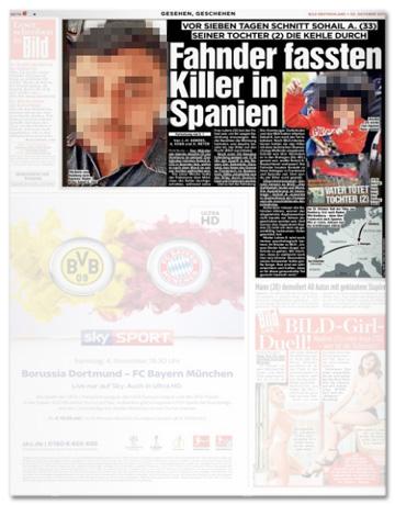 Ausriss Bild Innenteil - Fahnder fassten Killer in Spanien