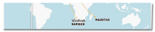 Screenshot Bild.de - Bild-Grafik in der steht Windhoek Namibien