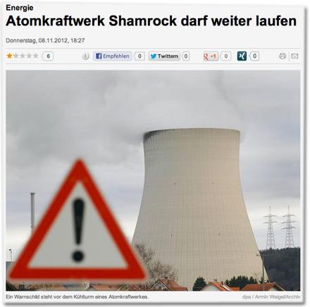 Atomkraftwerk Shamrock darf weiter laufen