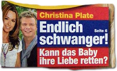 Christina Plate: Endlich schwanger! Kann das Baby ihre Liebe retten?