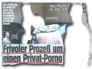 """""""Frivoler Prozeß um einen Privat-Porno"""""""