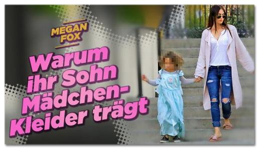 Screenshot Bild.de - Megan Fox - Warum ihr Sohn Mädchen-Kleider trägt
