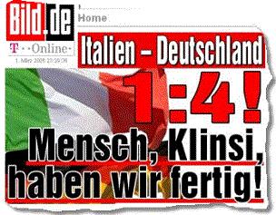 Italien - Deutschland 1:4