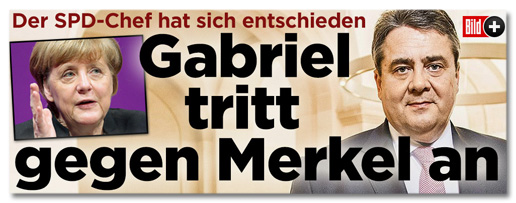 Der SPD-Chef hat sich entschieden - Gabriel tritt gegen Merkel an