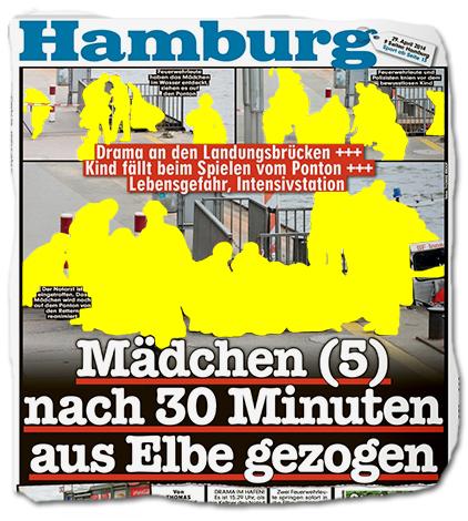 Mädchen (5) nach 30 Minuten aus Elbe gezogen