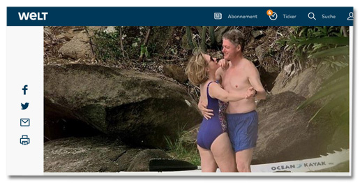 Screenshot Welt.de - Bill Clinton in Badehosen