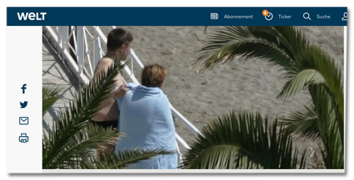 Screenshot Welt.de - Joachim Sauer in Badehosen