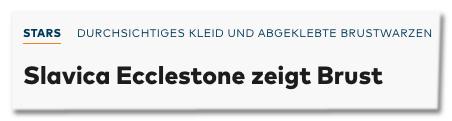 Screenshot Welt.de - Slavia Ecclestone zeigt Brust