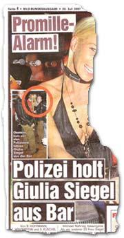 """""""Promille-Alarm! Polizei holt Giulia Siegel aus Bar"""""""
