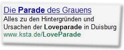 Die Parade des Grauens. Alles zu den Hintergründen und Ursachen der Loveparade in Duisburg: www.ksta.de/LoveParade
