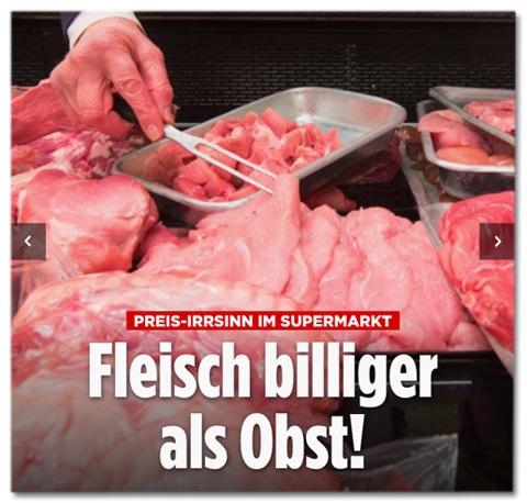 Preis-Irrsinn im Supermarkt - Fleisch billiger als Obst!