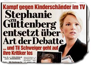 Stephanie zu Guttenberg entsetzt über Art der Debatte ... und Til Schweiger geht auf ihre Kritiker los Kampf gegen Kinderschänder im TV