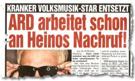KRANKER VOLKSMUSIK-STAR ENTSETZT: ARD arbeitet schon an Heinos Nachruf!