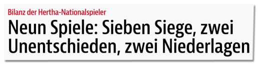 Screenshot bz-berlin.de - Bilanz der Hertha-Nationalspieler - Neun Spiele: Sieben Siege, zwei Unentschieden, zwei Niederlagen