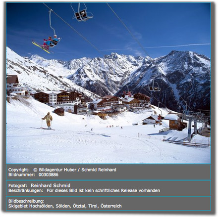 Bildbeschreibung: Skigebiet Hochsölden, Sölden, Ötztal, Tirol, Österreich