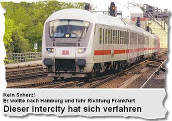 Dieser Intercity hat sich verfahren