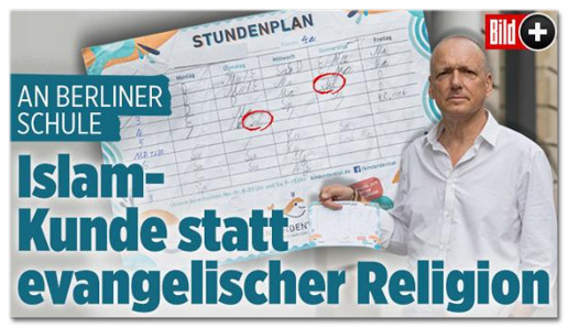 Screenshot Bild.de - An Berliner Schule - Islam-Kunde statt evangelischer Religion