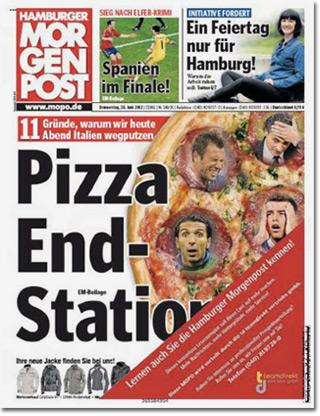 11 Gründe, warum wir heute Abend Italien wegputzen: Pizza End-Statione