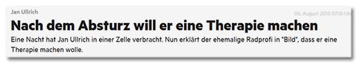 Jan Ullrich - Nach dem Absturz will er eine Therapie machen