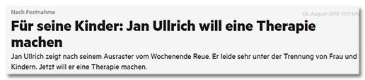 Für seine Kinder: Jan Ullrich will eine Therapie machen