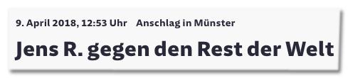 Screenshot Süddeutsche.de - Anschlag in Münster - Jens R. gegen den Rest der Welt