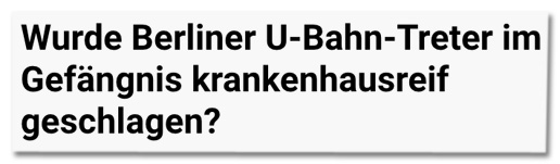 Screenshot tz.de - Wurde Berliner U-Bahn-Treter im Gefängnis krankenhausreif geschlagen?