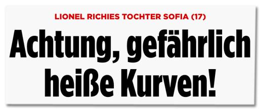 Screenshot Bild.de - Lionel Richies Tochter Sofia (17) - Achtung, gefährlich heiße Kurven!