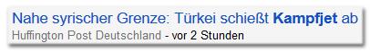 Schlagzeile von Huffingtonpost.de: