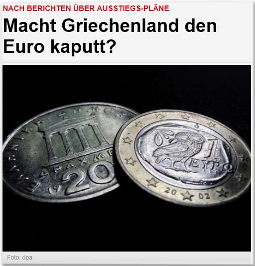 Nach Berichten über Ausstiegs-Pläne: Macht Griechenland den Euro kaputt?