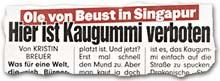 """""""Ole von Beust in Singapur -- Hier ist Kaugummi verboten"""""""