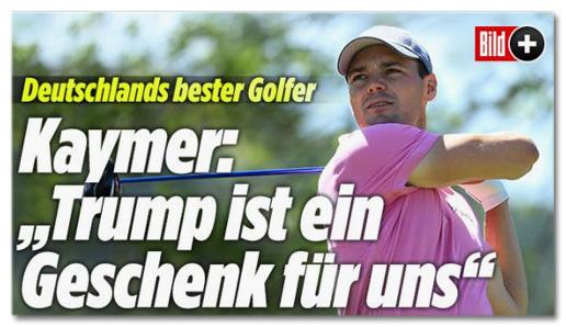Deutschlands bester Golfer - Kaymer: Trump ist ein Geschenk für uns