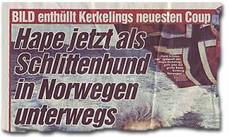 """BILD enthüllt Kerkelings neuesten Coup - Hape jetzt als Schlittenhund in Norwegen unterwegs"""