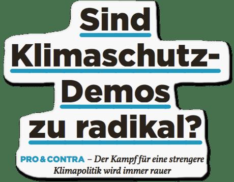 Ausriss Bild Politik - Sind Klimaschutz-Demos zu radikal?