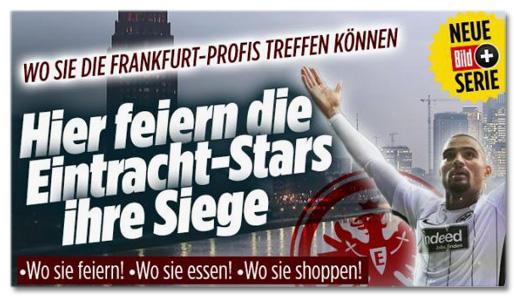 Screenshot Bild.de - Wo Sie die Frankfurt-Profis treffen können - Hier feiern die Eintracht-Stars ihre Siege - Wo sie feiern, wo sie essen, wo sie shoppen