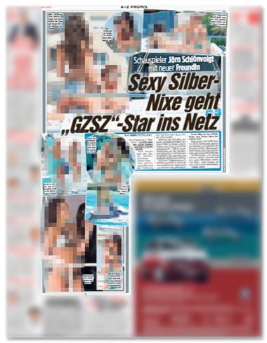 Ausriss Bild-Zeitung - Schauspieler Jörn Schlönvoigt mit neuer Freundin - Sexy Silber-Nixe geht GZSZ-Star ins Netz