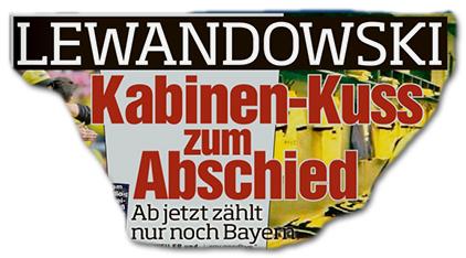 LEWANDOWSKI - Kabinen-Kuss zum Abschied - Ab jetzt zählt nur noch Bayern