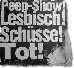 Peep-Show! Lesbisch! Schüsse! Tot!