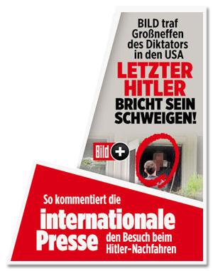 Screenshot Bild.de - So kommentiert die internationale Presse den Besuch bei den Hitler-Nachfahren