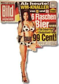 Ab heute! WM-Knaller von Lidl und Bild: 6 Flaschen Bier + 1 Tüte Erdnuß-Flips + 1 Deutschland-Fahne nur 99 Cent!
