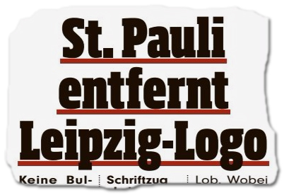 St. Pauli entfernt Leipzig-Logo