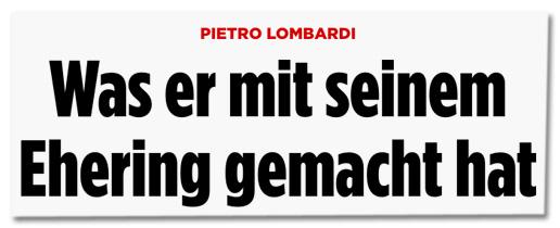 Pietro Lombardi - Was er mit seinem Ehering gemacht hat