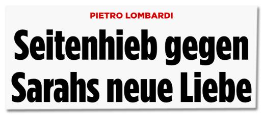 Pietro Lombardi - Seitenhieb gegen Sarahs neue Liebe